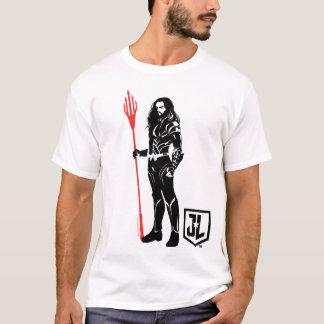 Justice League | Aquaman Pose Noir Pop Art T-Shirt