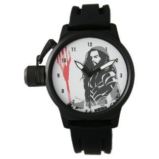 Justice League | Aquaman Pose Noir Pop Art Watch