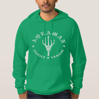 Justice League | Aquaman Retro Trident Emblem Hoodie
