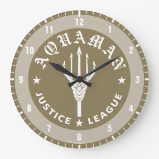 Justice League   Aquaman Retro Trident Emblem Large Clock