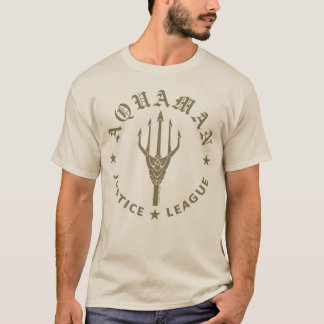 Justice League | Aquaman Retro Trident Emblem T-Shirt