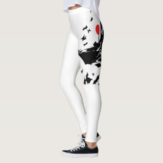 Justice League | Batman in Cloud of Bats Pop Art Leggings