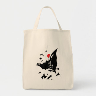 Justice League | Batman in Cloud of Bats Pop Art Tote Bag