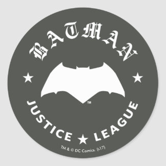 Justice League | Batman Retro Bat Emblem Classic Round Sticker