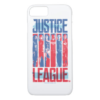 Justice League | Blue & Red Group Pop Art iPhone 8/7 Case