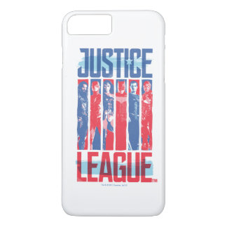 Justice League | Blue & Red Group Pop Art iPhone 8 Plus/7 Plus Case
