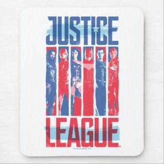 Justice League | Blue & Red Group Pop Art Mouse Pad