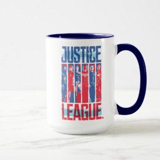 Justice League | Blue & Red Group Pop Art Mug
