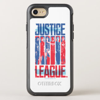 Justice League | Blue & Red Group Pop Art OtterBox Symmetry iPhone 8/7 Case