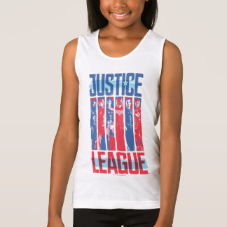 Justice League | Blue & Red Group Pop Art Singlet