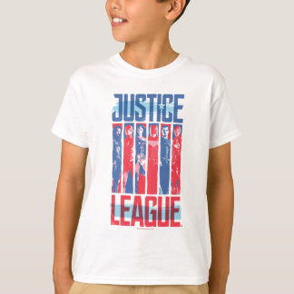 Justice League | Blue & Red Group Pop Art T-Shirt