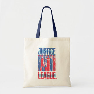 Justice League | Blue & Red Group Pop Art Tote Bag