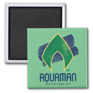 Justice League | Brush & Halftone Aquaman Symbol Magnet