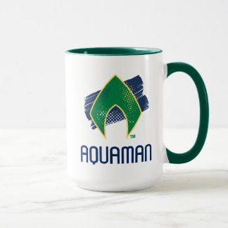 Justice League | Brush & Halftone Aquaman Symbol Mug