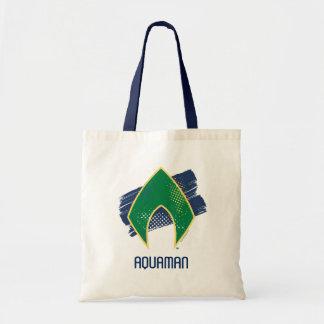 Justice League | Brush & Halftone Aquaman Symbol Tote Bag
