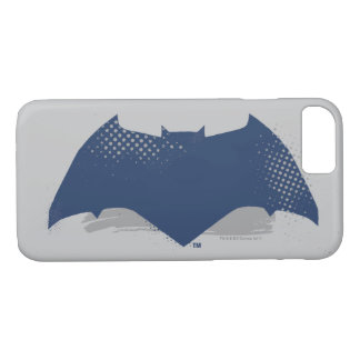 Justice League | Brush & Halftone Batman Symbol iPhone 8/7 Case