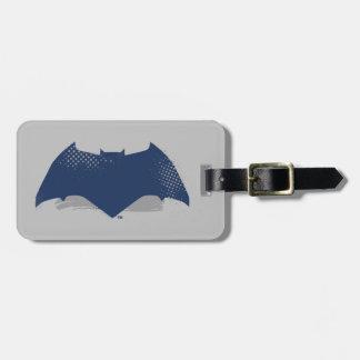Justice League   Brush & Halftone Batman Symbol Luggage Tag