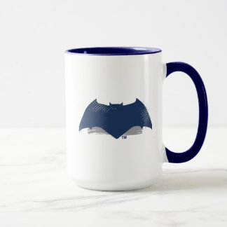 Justice League | Brush & Halftone Batman Symbol Mug
