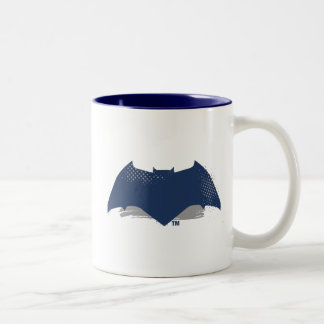 Justice League | Brush & Halftone Batman Symbol Two-Tone Coffee Mug