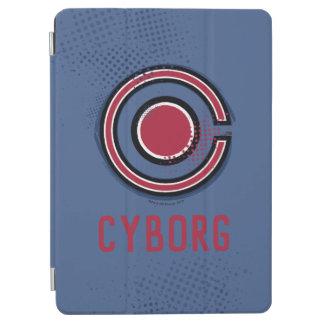 Justice League | Brush & Halftone Cyborg Symbol iPad Air Cover