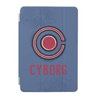 Justice League   Brush & Halftone Cyborg Symbol iPad Mini Cover