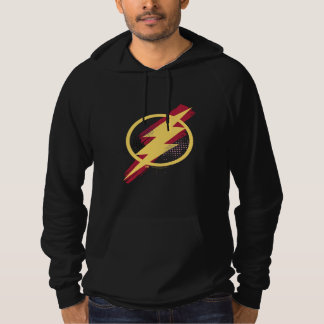 Justice League | Brush & Halftone Flash Symbol Hoodie