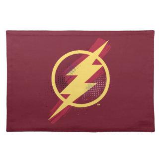Justice League | Brush & Halftone Flash Symbol Placemat