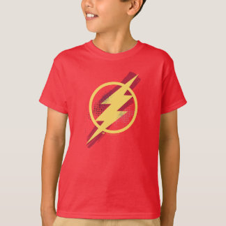 Justice League | Brush & Halftone Flash Symbol T-Shirt