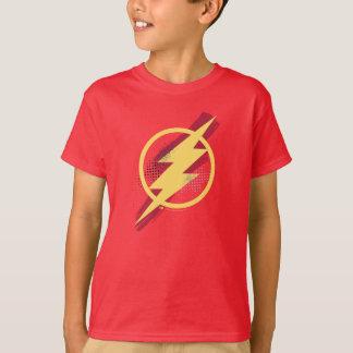 Justice League | Brush & Halftone Flash Symbol T-Shirt