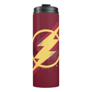 Justice League | Brush & Halftone Flash Symbol Thermal Tumbler