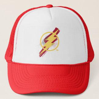 Justice League | Brush & Halftone Flash Symbol Trucker Hat