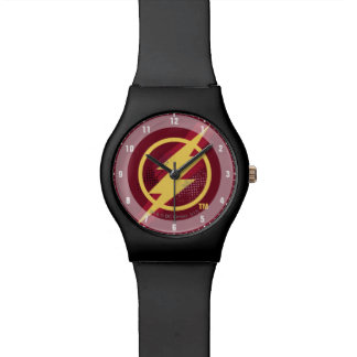 Justice League | Brush & Halftone Flash Symbol Watch