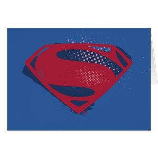 Justice League | Brush & Halftone Superman Symbol Card