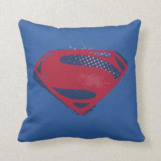 Justice League | Brush & Halftone Superman Symbol Cushion
