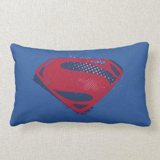 Justice League | Brush & Halftone Superman Symbol Lumbar Cushion