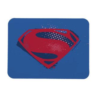 Justice League | Brush & Halftone Superman Symbol Magnet