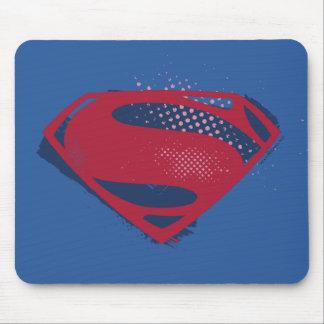 Justice League | Brush & Halftone Superman Symbol Mouse Pad