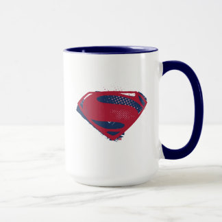 Justice League | Brush & Halftone Superman Symbol Mug