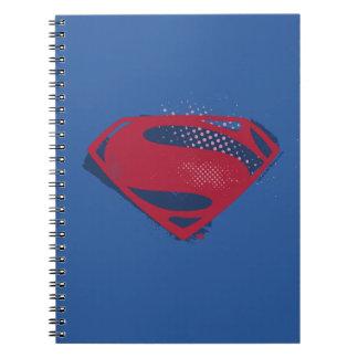 Justice League | Brush & Halftone Superman Symbol Notebook