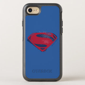 Justice League | Brush & Halftone Superman Symbol OtterBox Symmetry iPhone 8/7 Case