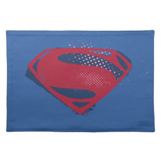 Justice League | Brush & Halftone Superman Symbol Placemat