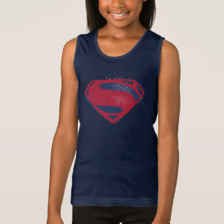 Justice League | Brush & Halftone Superman Symbol Singlet