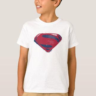Justice League | Brush & Halftone Superman Symbol T-Shirt