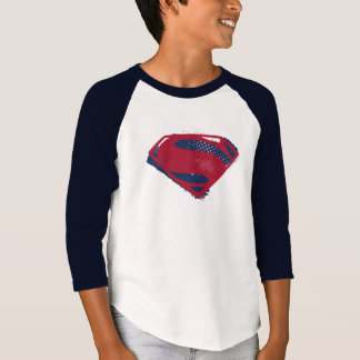 Justice League | Brush & Halftone Superman Symbol T-Shirt
