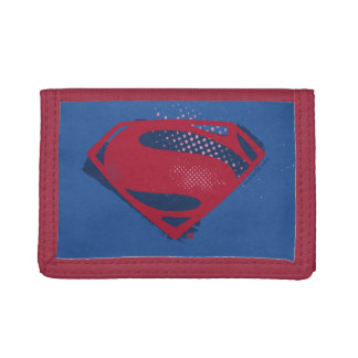 Justice League | Brush & Halftone Superman Symbol Trifold Wallet