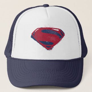Justice League | Brush & Halftone Superman Symbol Trucker Hat