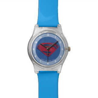 Justice League | Brush & Halftone Superman Symbol Watch
