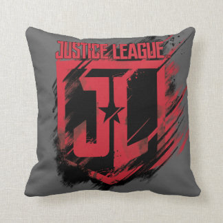 Justice League | Brushed Paint JL Shield Cushion