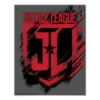 Justice League | Brushed Paint JL Shield Poster