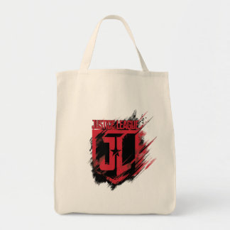 Justice League | Brushed Paint JL Shield Tote Bag